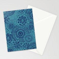 Tossed Blue mandalas Stationery Cards