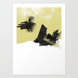 Yellow Symbiote Art Print