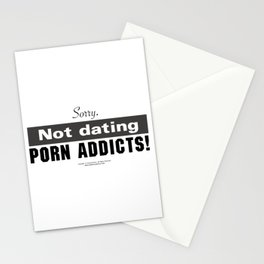 Not dating porn addicts - by Fanitsa Petrou Stationery Cards