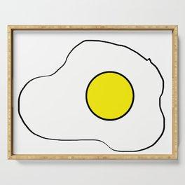 Fried Egg doodle Sticker Cartoon  Serving Tray