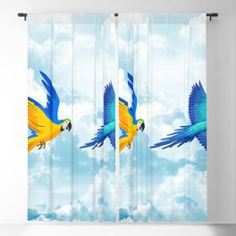 Parrot Couple In The Clouds Blackout Curtain