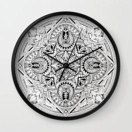 Lost Mandala  Wall Clock