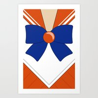 sailor venus Art Prints featuring Sailor Venus by kscullington | kristina anne