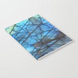 Royal Labradorite Crystal Agate Gemstone Print Notebook