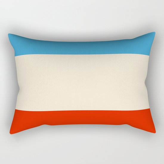 Abstract Minimal Retro Stripes Design Blue White Red - Helead by alphaomega