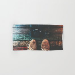 SHOES - CANON - CAMERA - PHOTOGRAPHY Hand & Bath Towel
