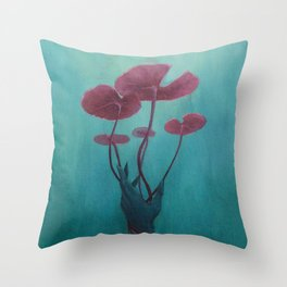 Drowning Lily Throw Pillow