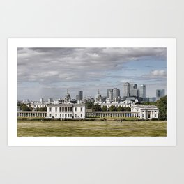 Greenwich Campus sits on a World Heritage Site and is located in the heart of Greenwich Art Print