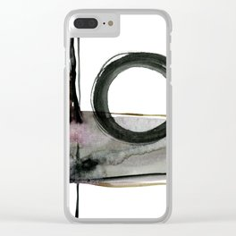 Enso Abstraction No. 112 by Kathy morton Stanion Clear iPhone Case