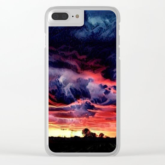 Sunset over the Horizon (Gorgeous Landscape) Clear iPhone Case