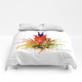Tillandsia IO Ionantha Air Plant Watercolors Comforters