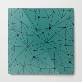 Geometric Teal Metal Print