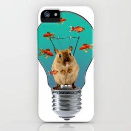 Little Mouse - Light Bulb - goldfishes iPhone Case