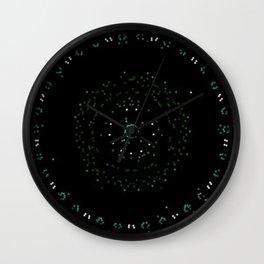 Pixel Dust Black Mandala Wall Clock