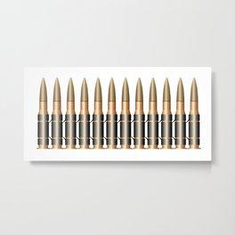 Bullet Belt Metal Print