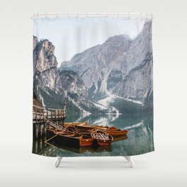 Day at the Mountain Lake Shower Curtain