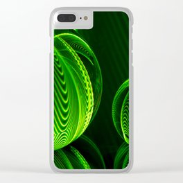Lime lines in the glass balls. Clear iPhone Case