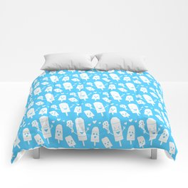 Popsicles Just Wanna Have Fun - Blue Comforters