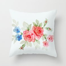 Flowers - Painting Style Throw Pillow