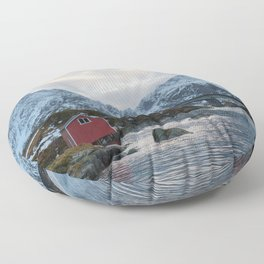 Lofoten winter Floor Pillow