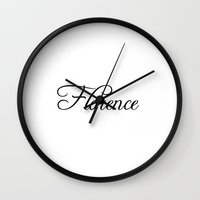 florence Wall Clocks featuring Florence by Blocks & Boroughs