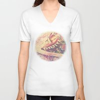 converse V-neck T-shirts featuring Converse by Nechifor Ionut