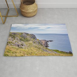 Red Chamber on the Welsh Coast Rug