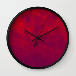Mosaic Red Red Wine Wall Clock