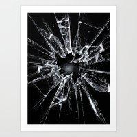 broken Art Prints featuring Broken by nicebleed