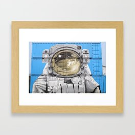 ASTROUNAUT IN CONTAINERS Framed Art Print