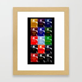A Warholian Interpretation of the Atlantic Coast Conference Framed Art Print