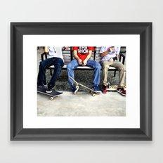 Skaters, Dallas, TX Framed Art Print