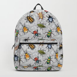 A Bunch of Beetles - Colorful Insect Pattern Backpack