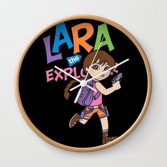 Lara the Explorer Wall Clock