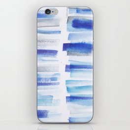 5| 181101 Watercolour Palette Abstract Art | Lines | Stripes | iPhone Skin