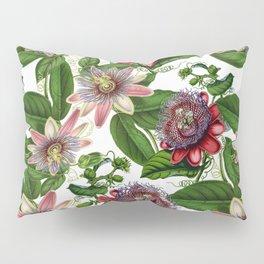 Vintage & Shabby Chic- Retro Passiflora Pattern Pillow Sham