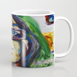 Green Hair Portrait Coffee Mug