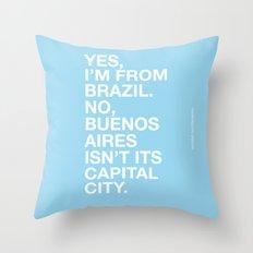 From Brazil II Throw Pillow