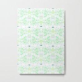 Sea Green Pattern Metal Print