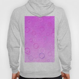 Colorful bubbles on a pink background. Hoody