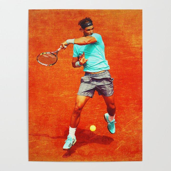 Rafael Nadal Tennis On Clay Poster