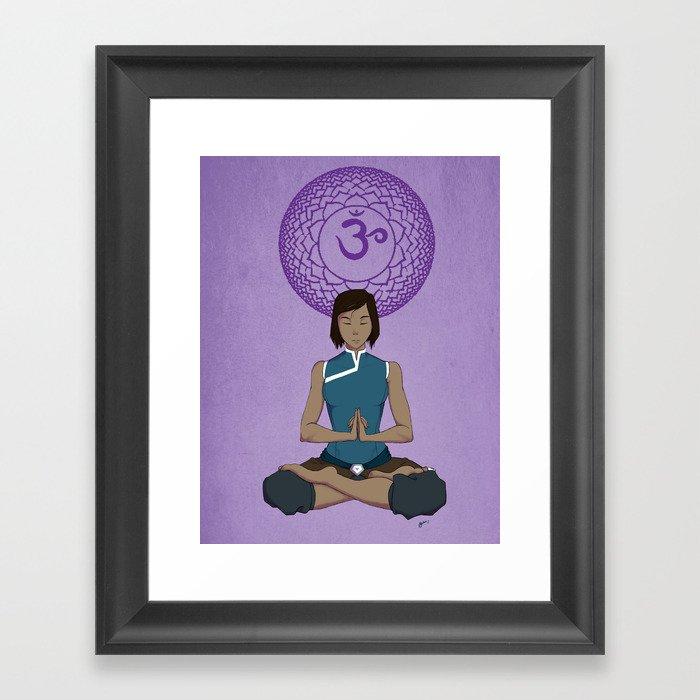 Korra Meditation - Crown Chakra Framed Art Print