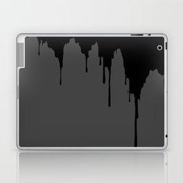 Dripping Ink - Grey Laptop & iPad Skin