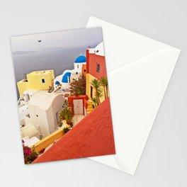 Oia, Santorini, Greece Color Explosion Stationery Cards