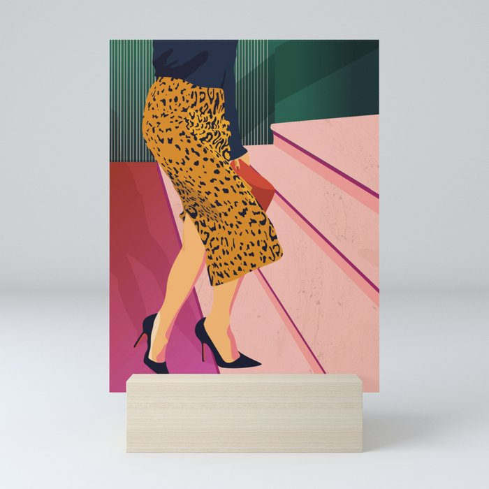 Just steppin' in, and you`re gonna hear me Roar - Fashion illustration Mini Art Print