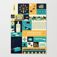 divergent Canvas Prints featuring Divergent items by Isabelle Silva
