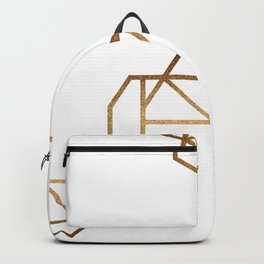 industrial golden glitters Backpack