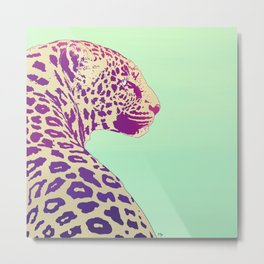 Leopard under the Sun Metal Print