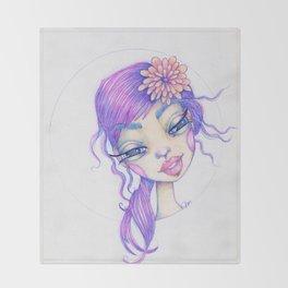 JennyMannoArt Colored Pencil Illustration/Sarah Throw Blanket