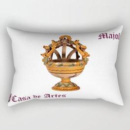 Majolica Incense Burner - Casa de Artes Rectangular Pillow